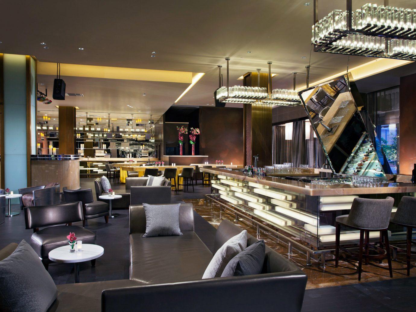 Bar Dining Drink Eat Hotels Living Lounge Luxury Modern Romantic indoor floor room ceiling restaurant interior design meal café furniture coffeehouse area several