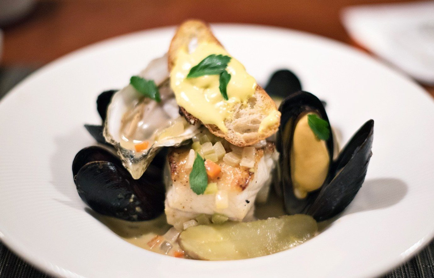 Beach Trip Ideas plate food dish indoor cuisine mussel white Seafood meal produce restaurant clams oysters mussels and scallops invertebrate meat arranged piece de resistance