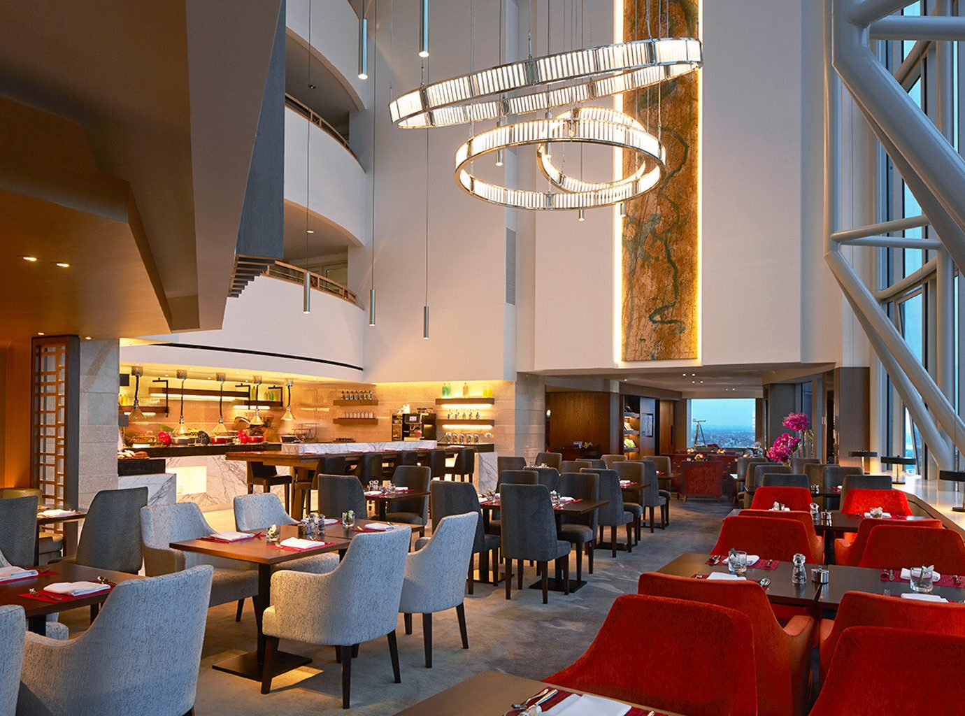 Interior of Altitude at Shangri-La, Sydney, Australia