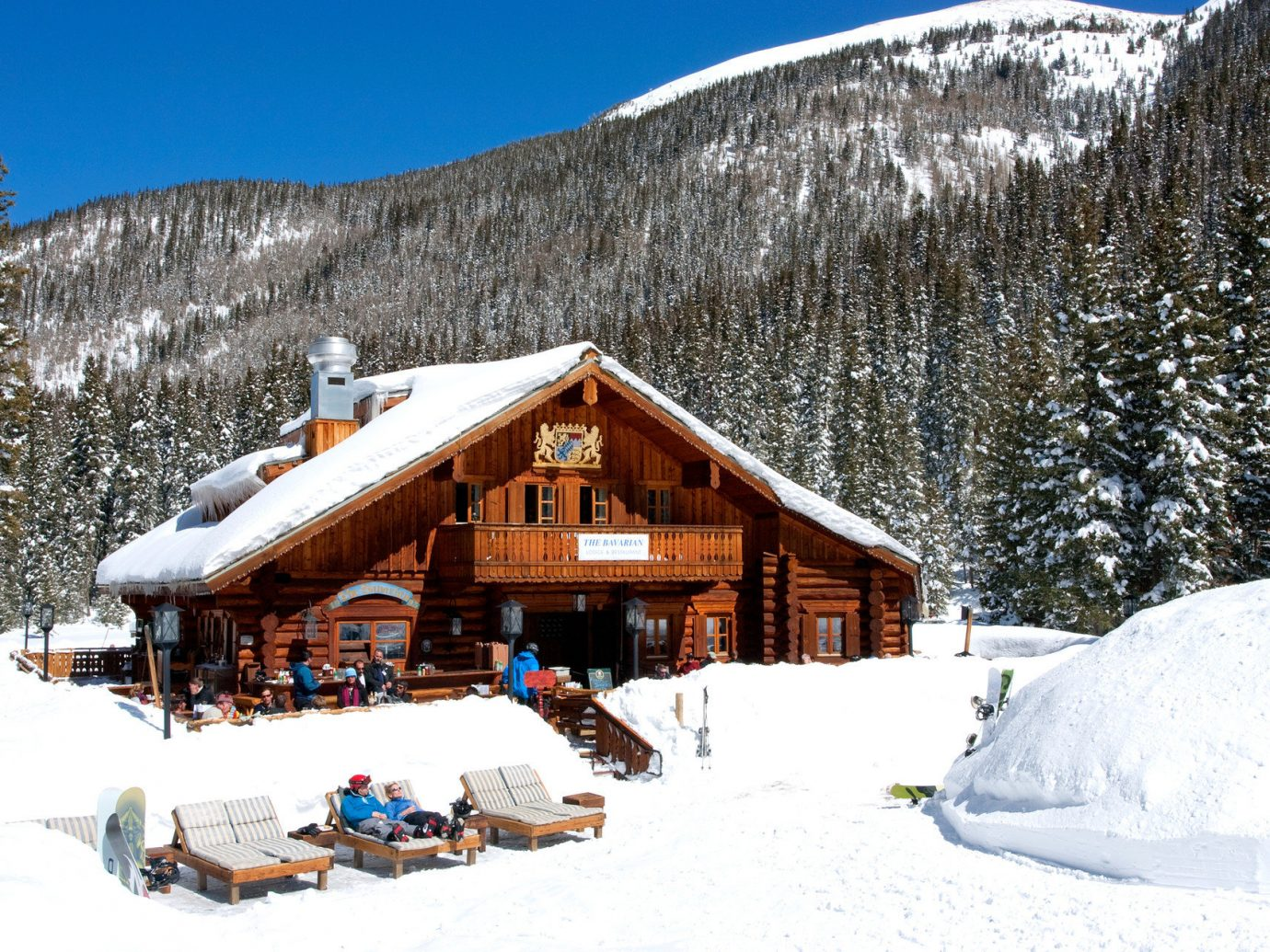 Trip Ideas snow outdoor sky skiing Nature Winter mountain weather building Resort geological phenomenon season mountain range hut covered slope house piste log cabin alps ski slope day