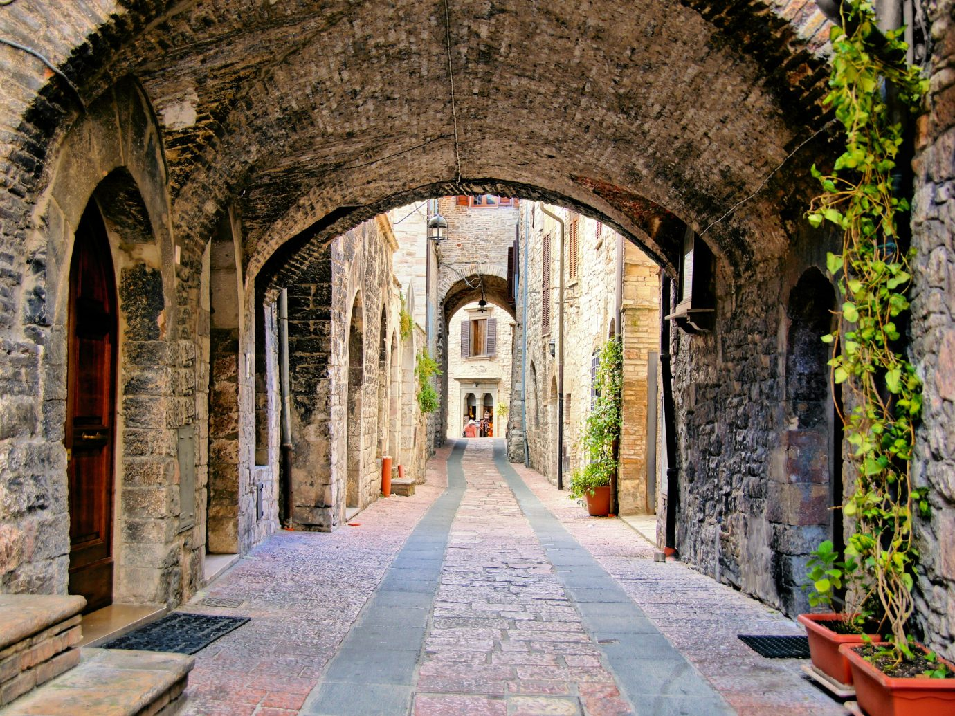 Trip Ideas building ground outdoor arch stone Town Architecture arcade ancient history tourism monastery estate Courtyard alley place of worship aisle middle ages chapel abbey temple walkway colonnade