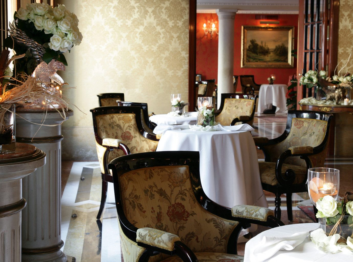 City Classic Dining Drink Eat Elegant Historic Hotels Italy Luxury Travel Romance Romantic Venice room dining room meal restaurant interior design home living room estate table