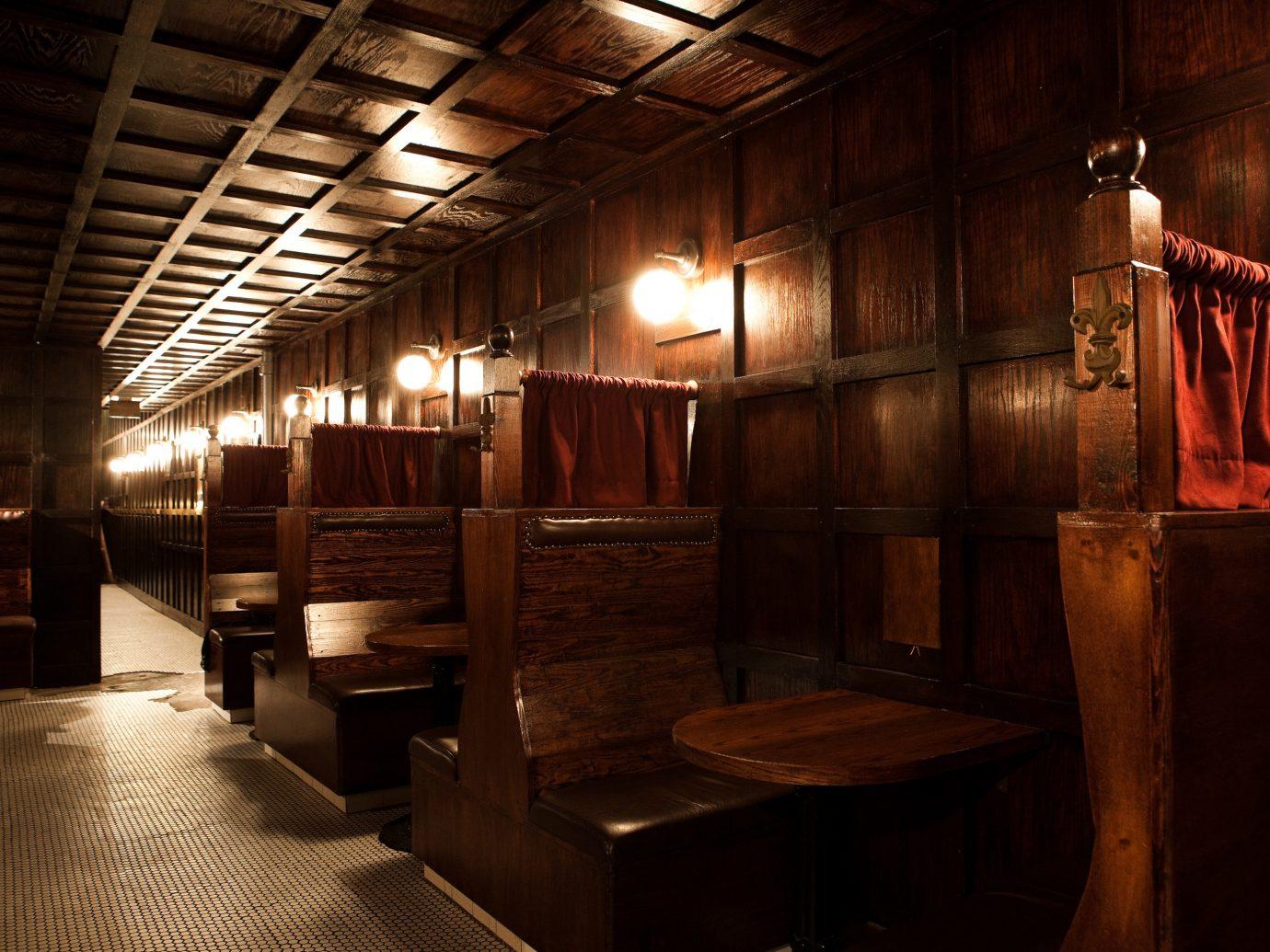 Food + Drink indoor ceiling room interior design wood darkness basement