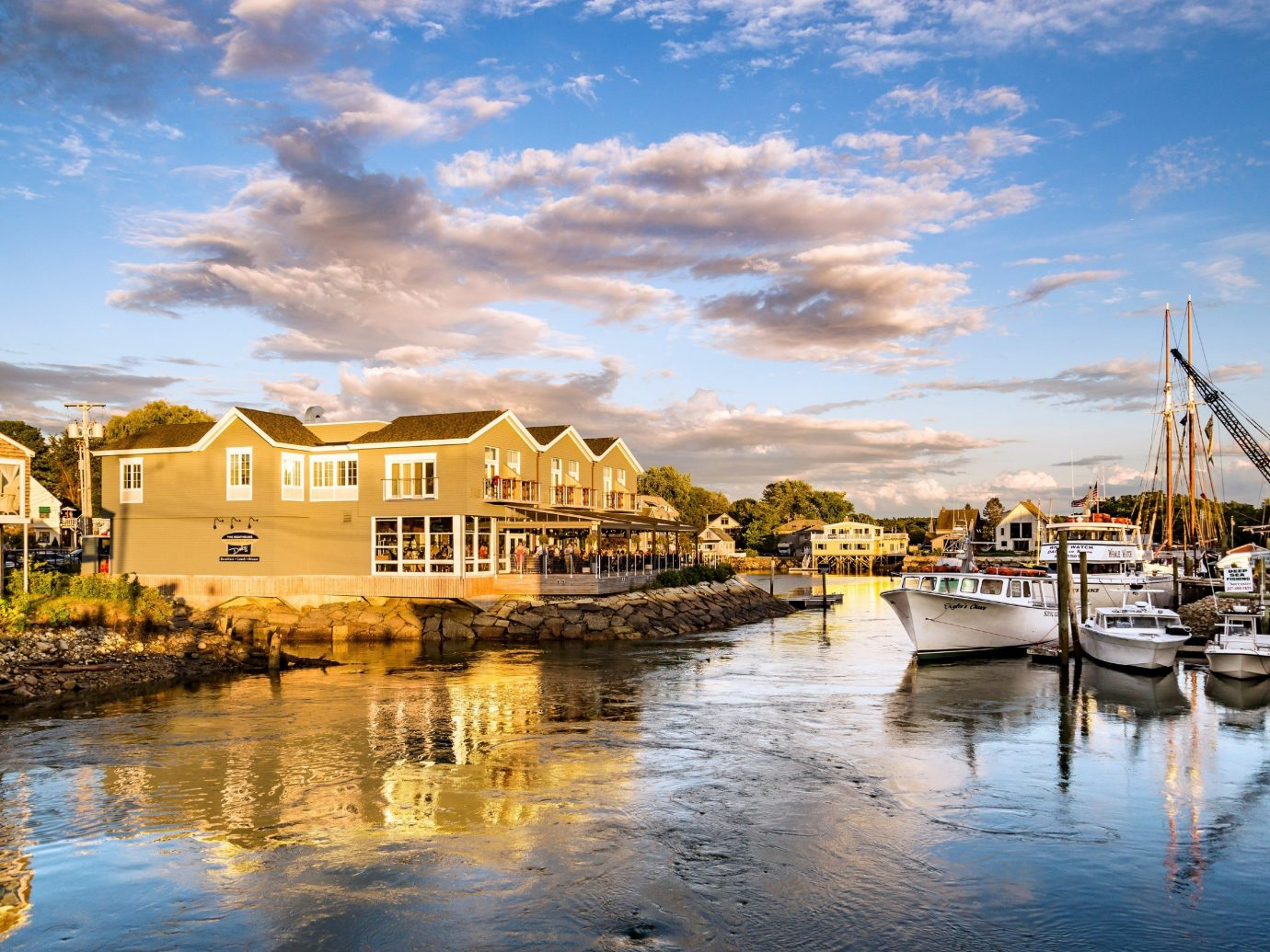 Road Trips Trip Ideas Weekend Getaways outdoor water sky scene Harbor Boat reflection marina body of water Sea Town dock vacation River evening cityscape dusk vehicle bay waterway Resort docked Sunset several