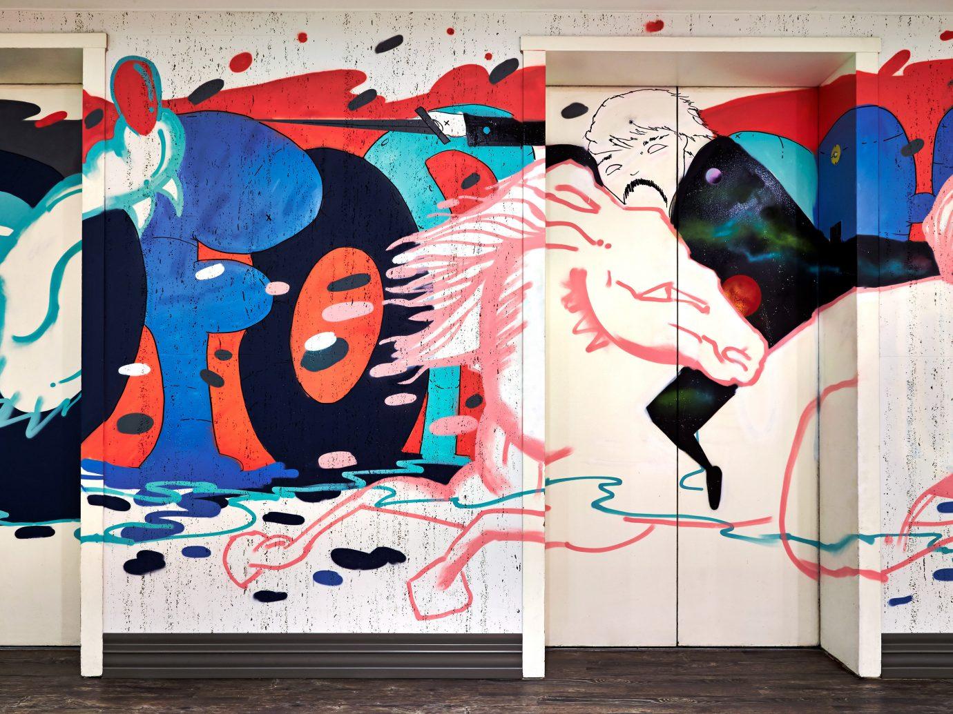 Boutique City Design Hip Hotels graffiti art street art mural modern art illustration abstract
