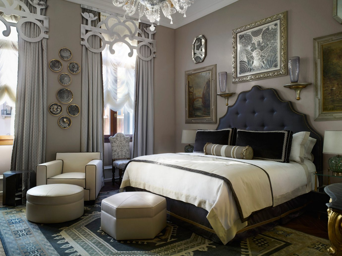 Bedroom City Elegant Historic Hotels Italy Luxury Luxury Travel Venice sofa indoor room floor living room property estate interior design home hotel furniture mansion Suite real estate