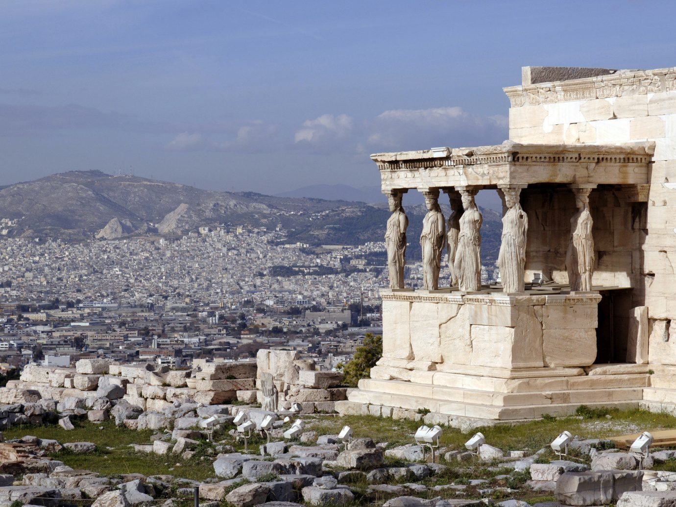 Travel Tips Trip Ideas outdoor sky building Ruins historic site mountain landmark archaeological site ancient history Town tourism fortification ancient roman architecture temple ancient greek temple unesco world heritage site monastery place of worship Sea monument ruin stone