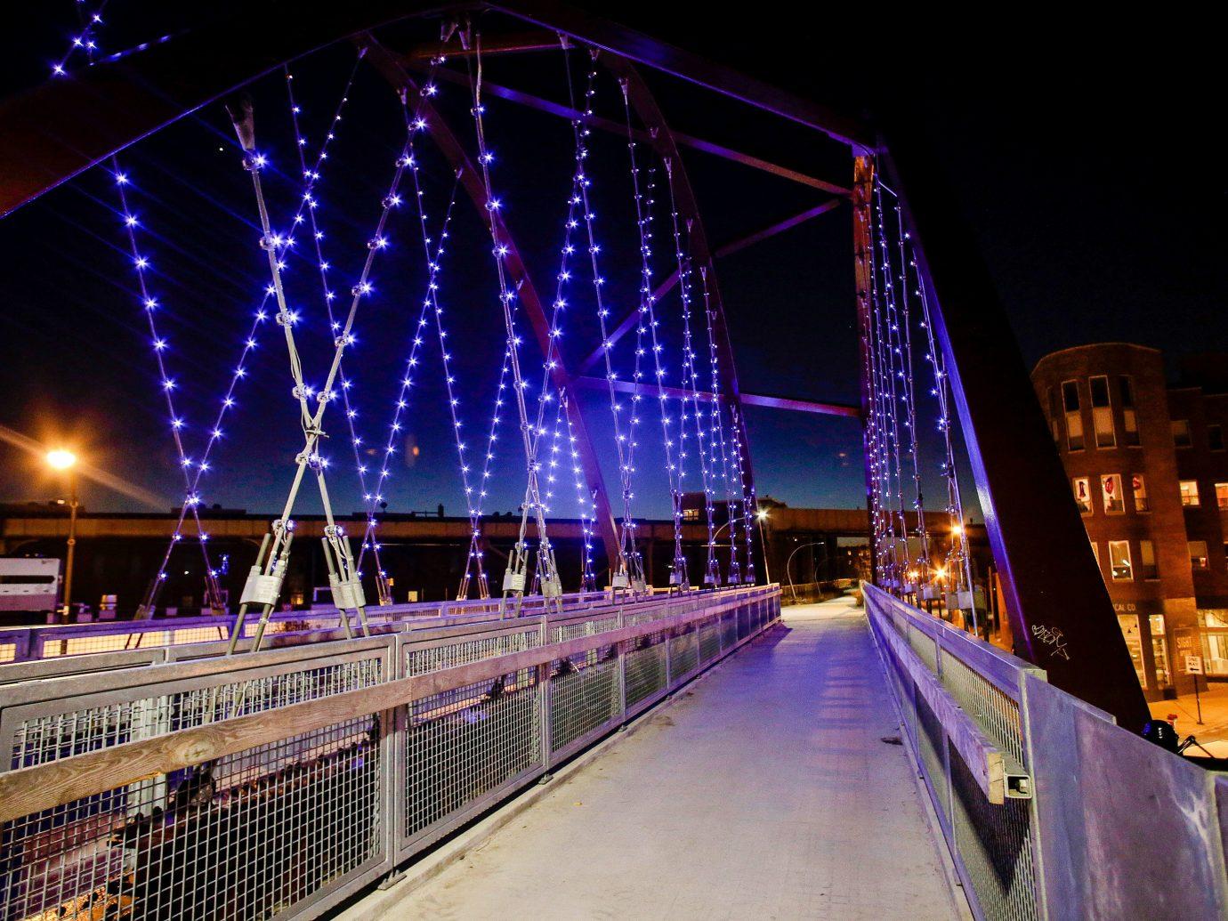 Trip Ideas night landmark light bridge lighting cityscape evening