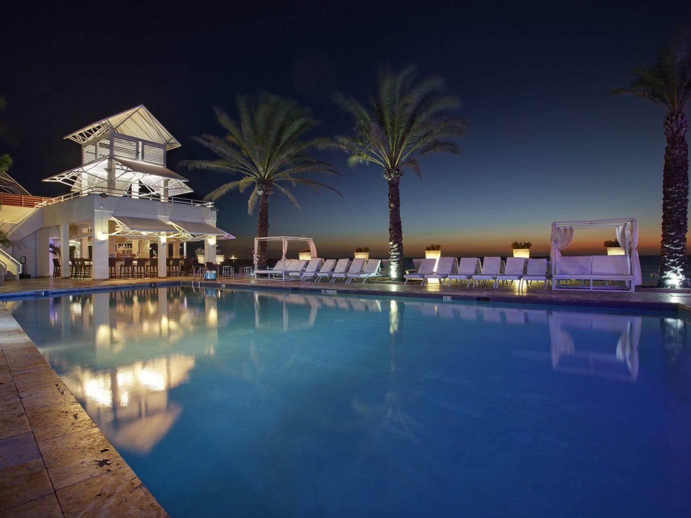 Hotels swimming pool property Resort night estate reflecting pool resort town mansion condominium shore