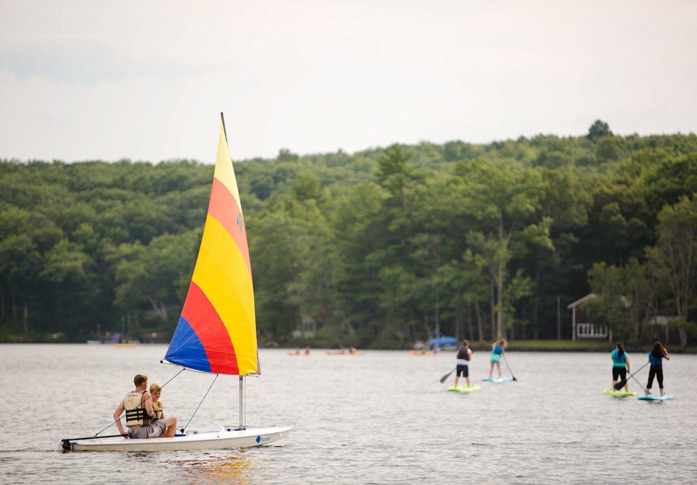 Trip Ideas Weekend Getaways tree outdoor water Boat watercraft transport Lake sailing sail sailboat vehicle boating dinghy sailing sports windsurfing wind Sea paddle