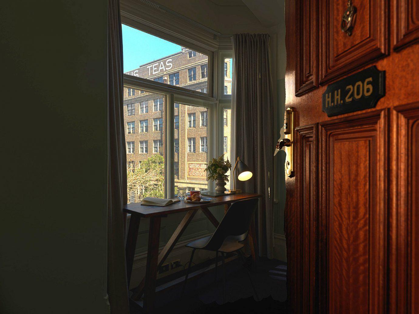 Hotels indoor window house room home wall Architecture wood interior design door lighting hall window covering