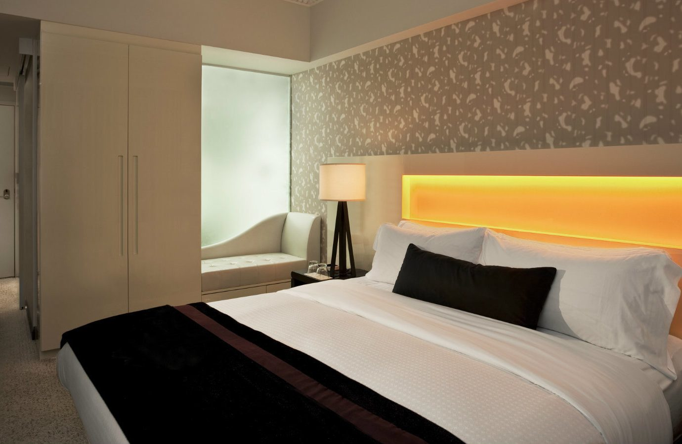 Hotels bed indoor wall hotel room Bedroom floor Suite interior design ceiling bed frame pillow real estate comfort interior designer bed sheet
