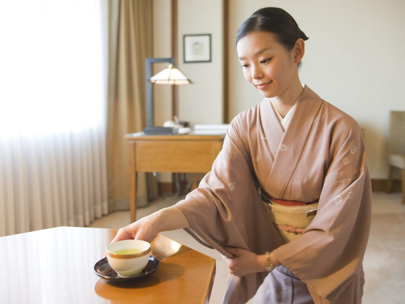 Hotels Japan Tokyo person indoor table wall human action human positions sitting cook dining table