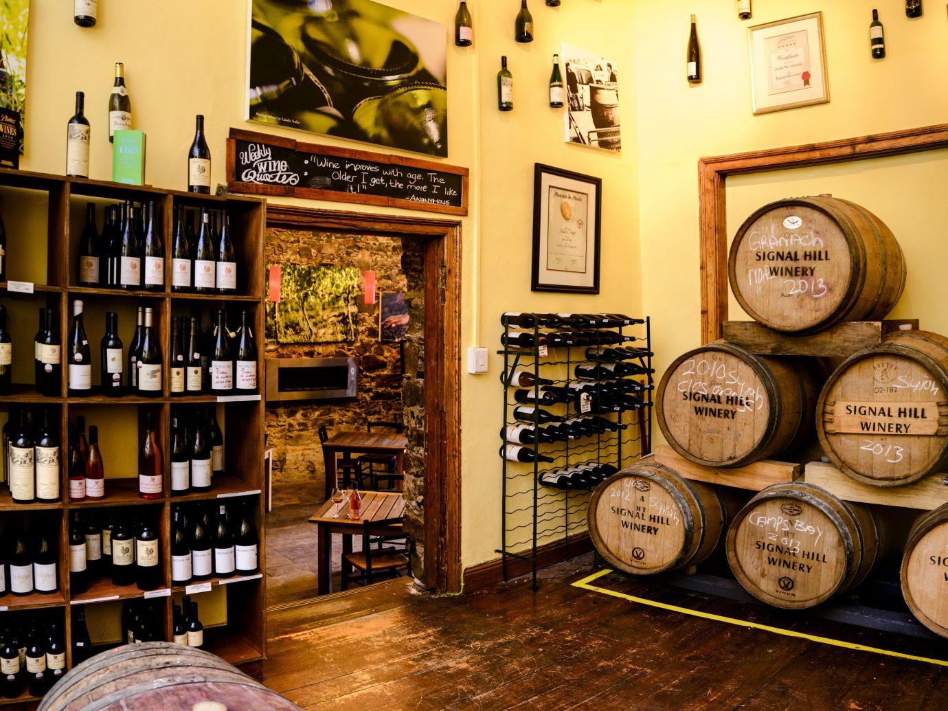 Hotels indoor man made object shelf interior design Winery wood