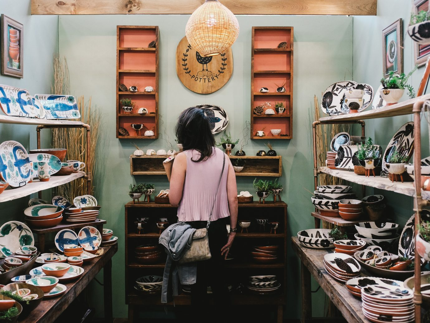 Offbeat indoor product Boutique shoe store retail cluttered Shop
