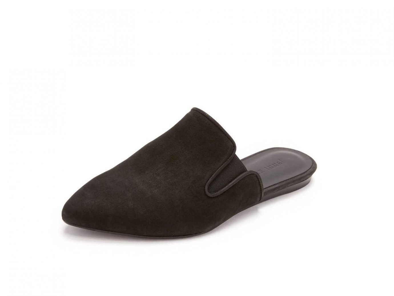 Style + Design clothing footwear shoe leather black slipper suede textile outdoor shoe material