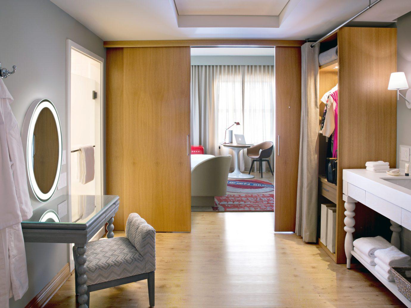 Bath Bedroom Hip Hotels Living Modern indoor floor wall room property home interior design estate Suite real estate living room cottage apartment furniture wood