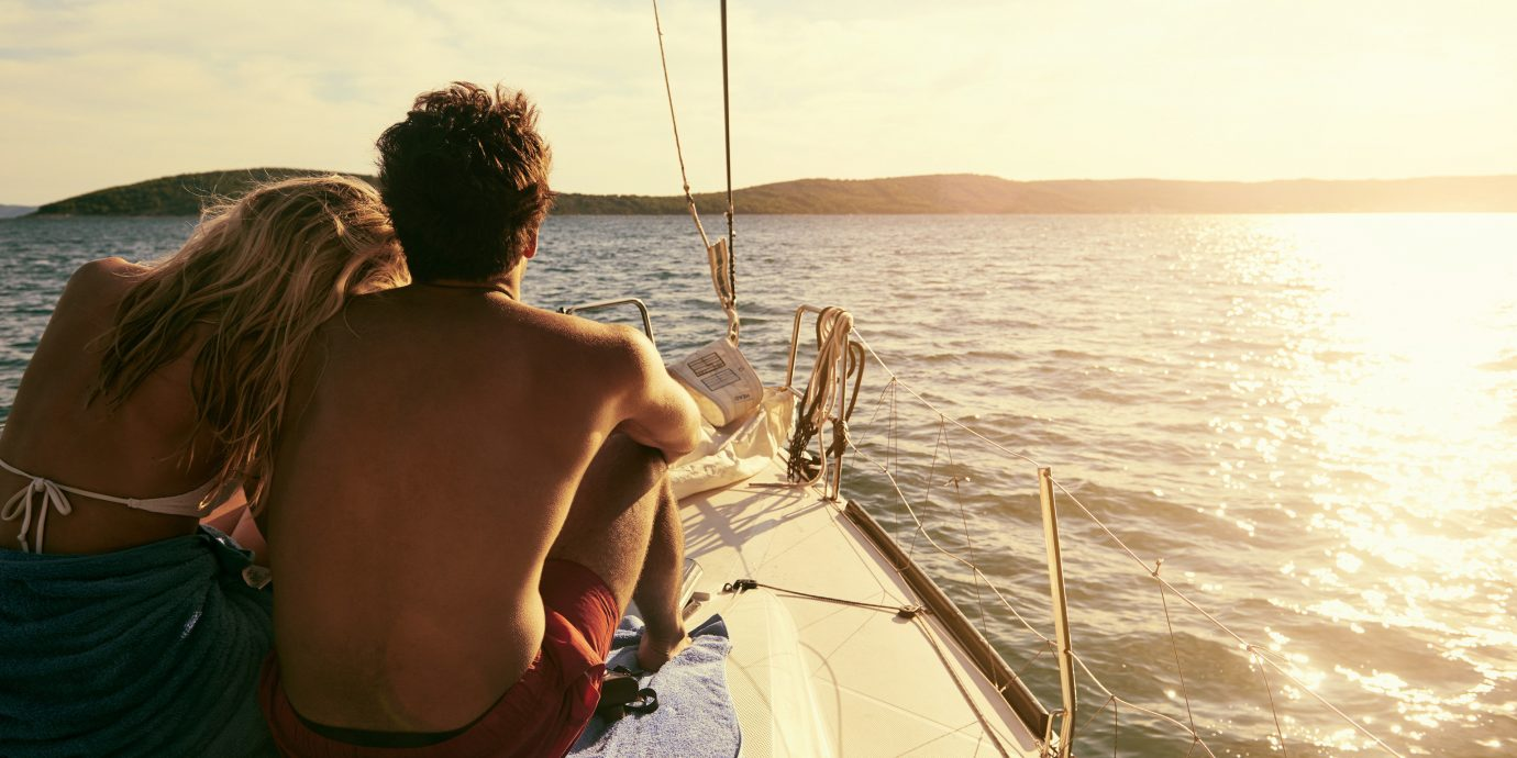 Travel Tips water sky person outdoor Boat watercraft sailing Sea vehicle transport vacation sail sailboat Lake sailing vessel