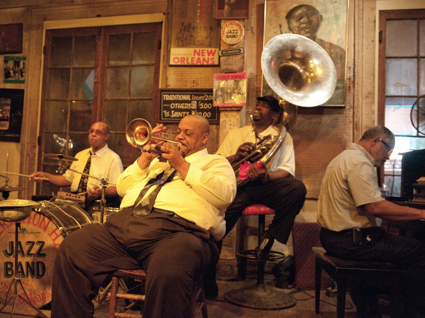 Big band playing in New Orleans Louisiana