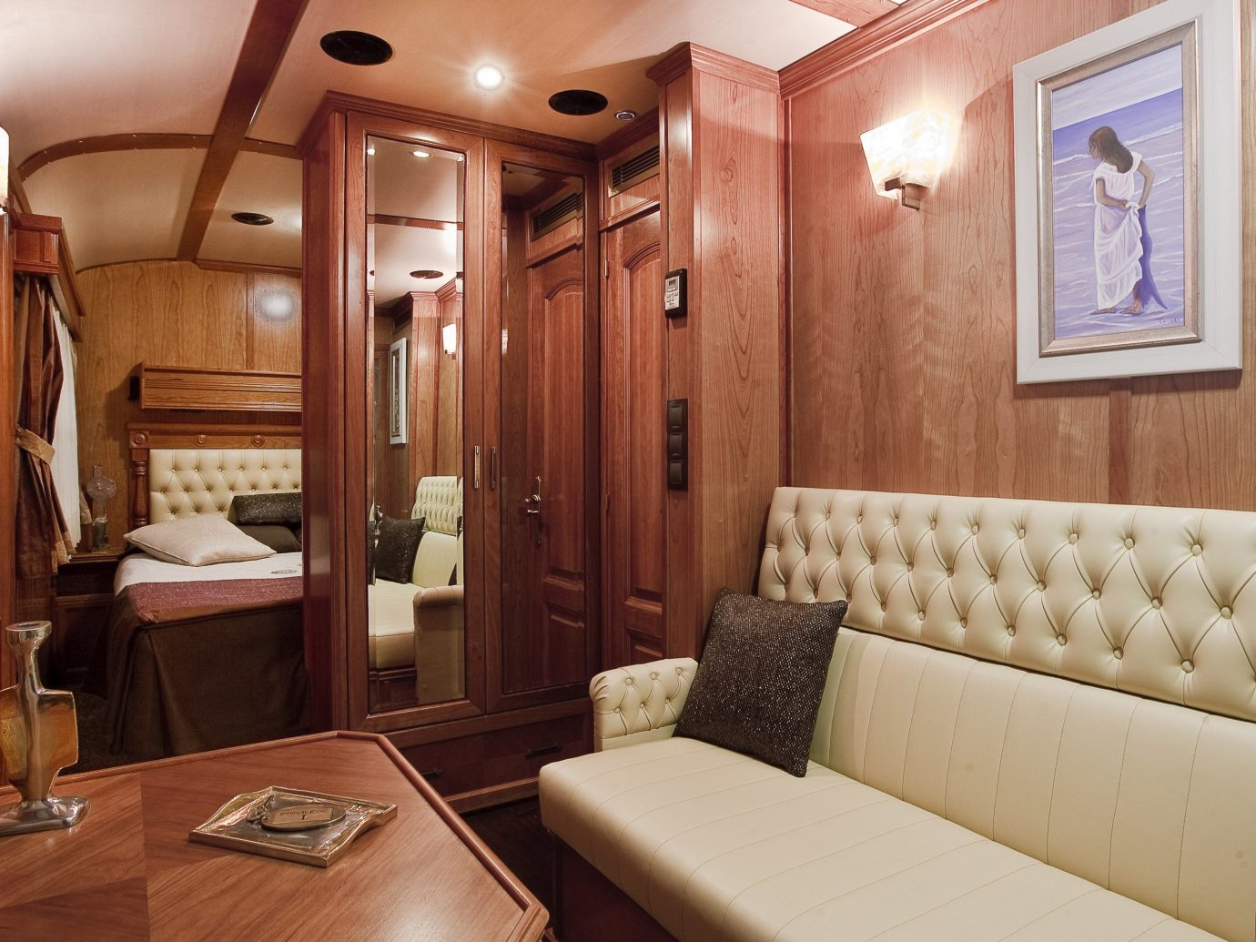 Trip Ideas indoor wall room property vehicle yacht Suite interior design estate cottage wood furniture