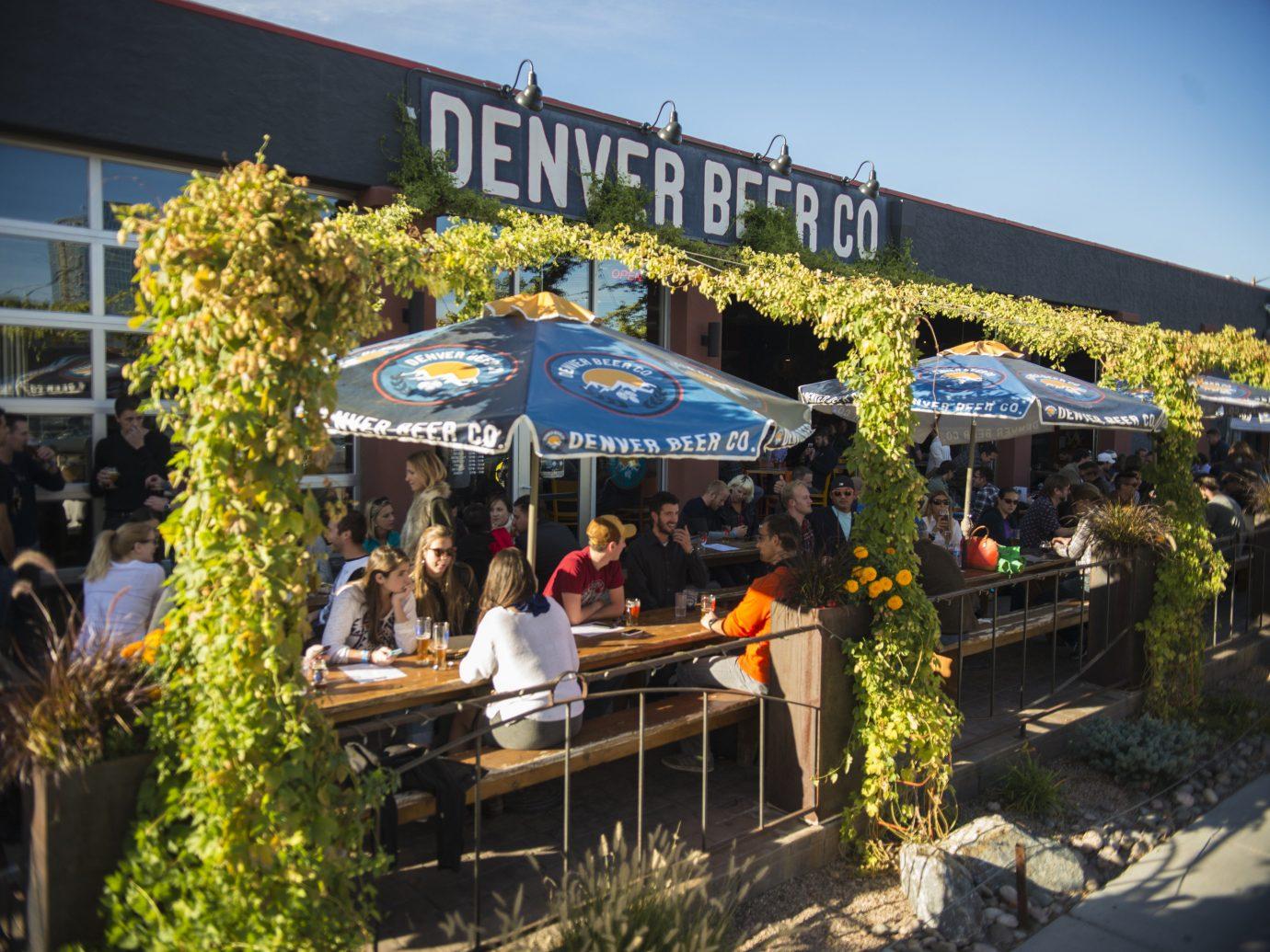 Beer garden in Denver, CO