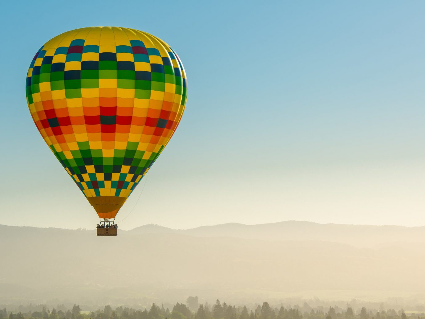 Food + Drink Girls Getaways Trip Ideas Weekend Getaways transport balloon sky aircraft outdoor hot air ballooning Hot Air Balloon vehicle atmosphere of earth toy colorful colored