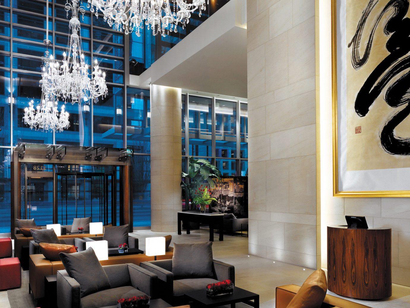 Hip Hotels Living Lounge Luxury Modern indoor room living room Lobby interior design lighting modern art Design furniture window covering area