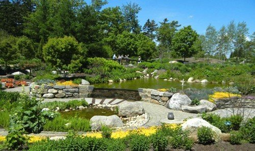 Road Trips Trip Ideas tree grass outdoor sky rock pond Garden watercourse landscape architect landscape backyard fish pond landscaping plant surrounded