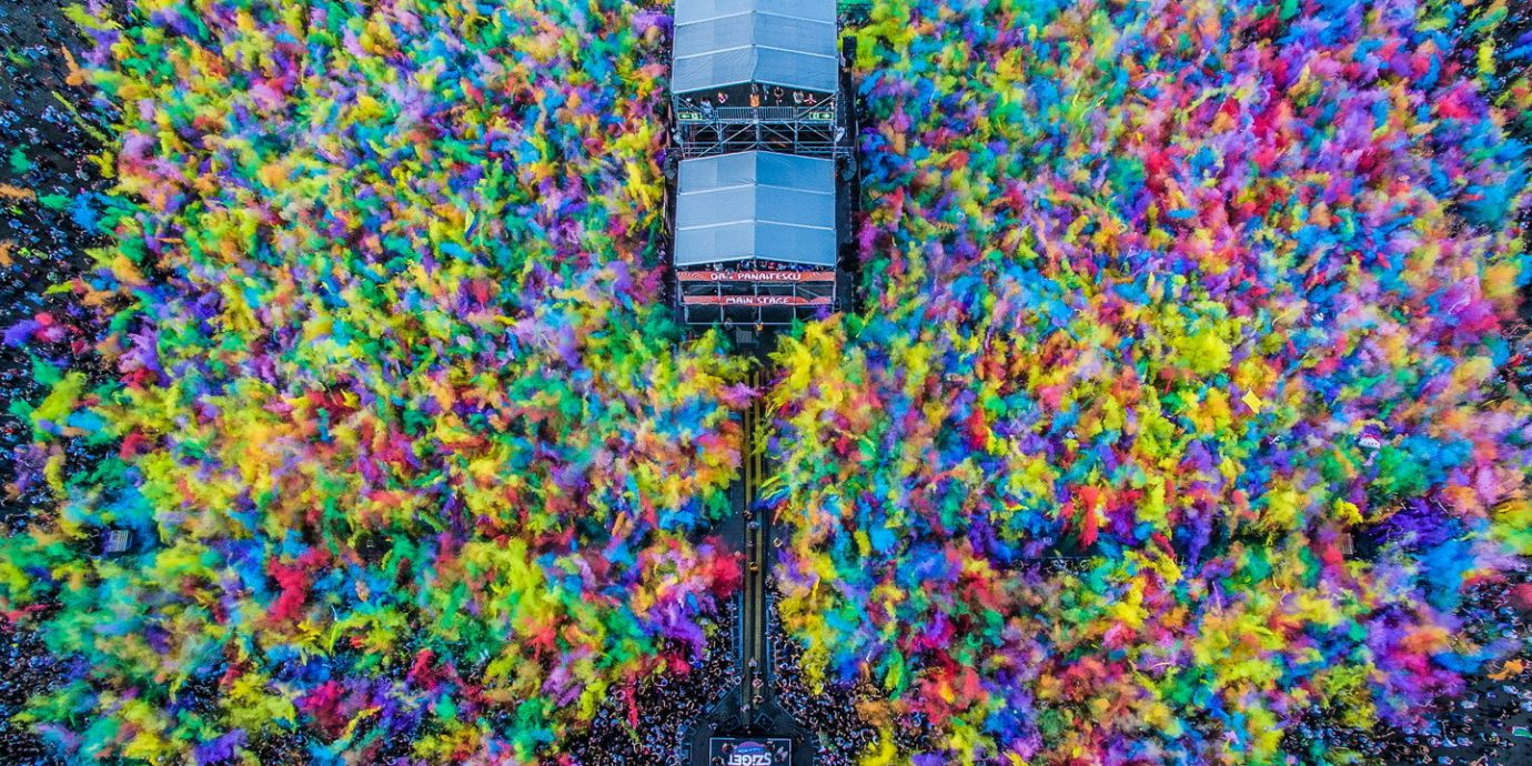 Arts + Culture color crowd outdoor psychedelic art flower art colorful colored