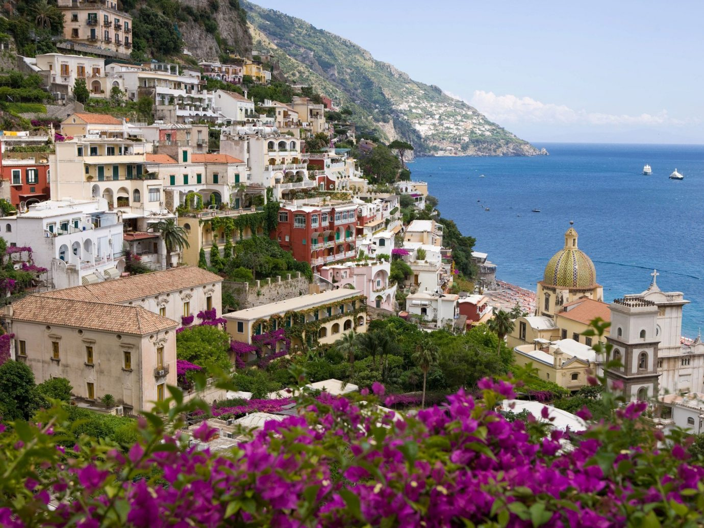 Hotels outdoor sky mountain flower Town Village vacation tourism Coast monastery Resort tours Sea old Garden beautiful surrounded