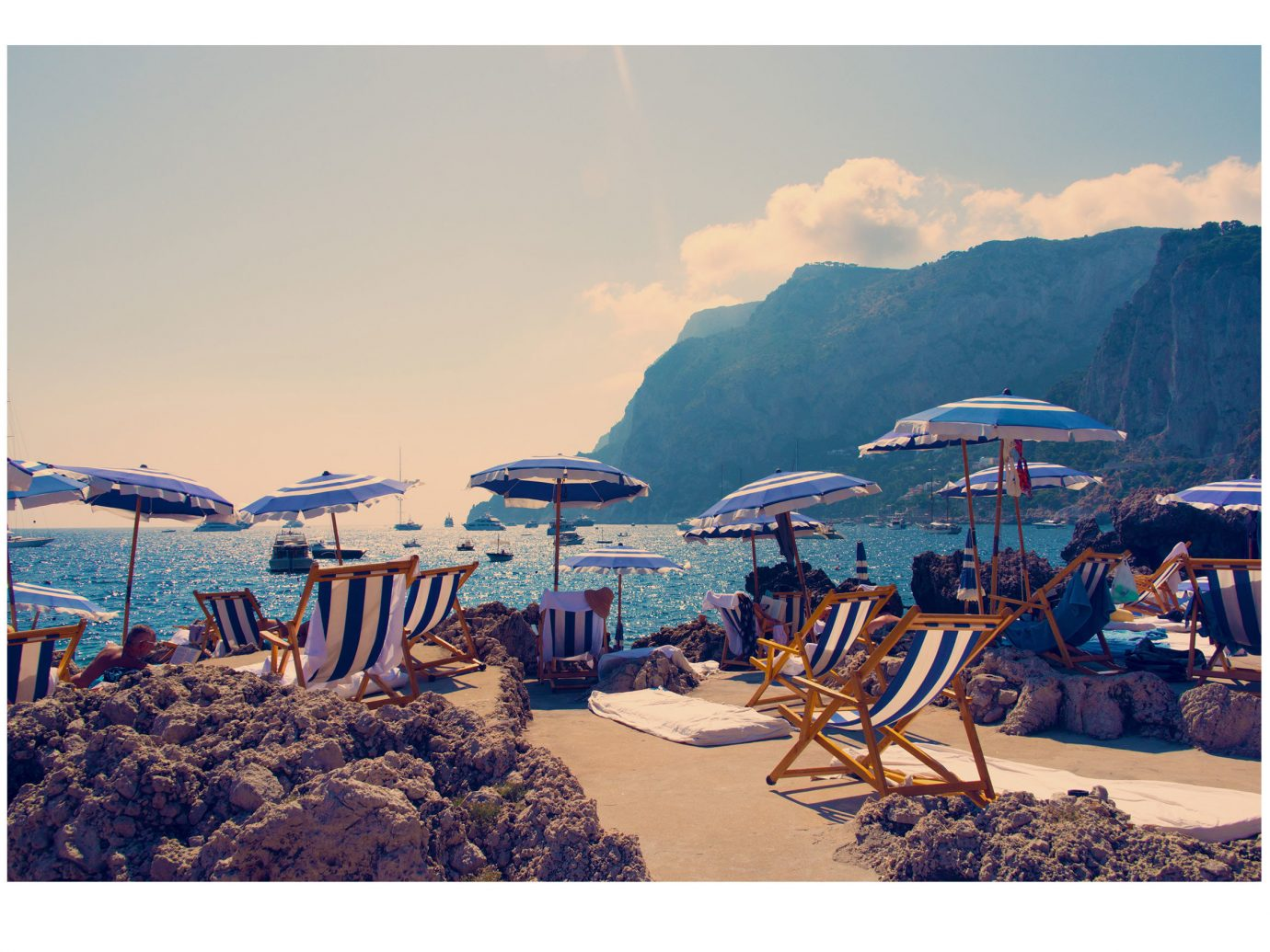 Style + Design sky umbrella outdoor chair mountain Beach Coast vacation Sea bay Nature set marina several shore day