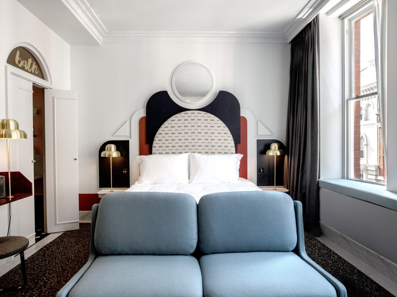 Boutique Hotels Hotels London Romantic Hotels indoor wall sofa room floor Living interior design Suite furniture ceiling Bedroom home interior designer comfort decorated