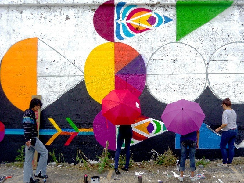 Trip Ideas color outdoor mural street art art graffiti colorful accessory colored