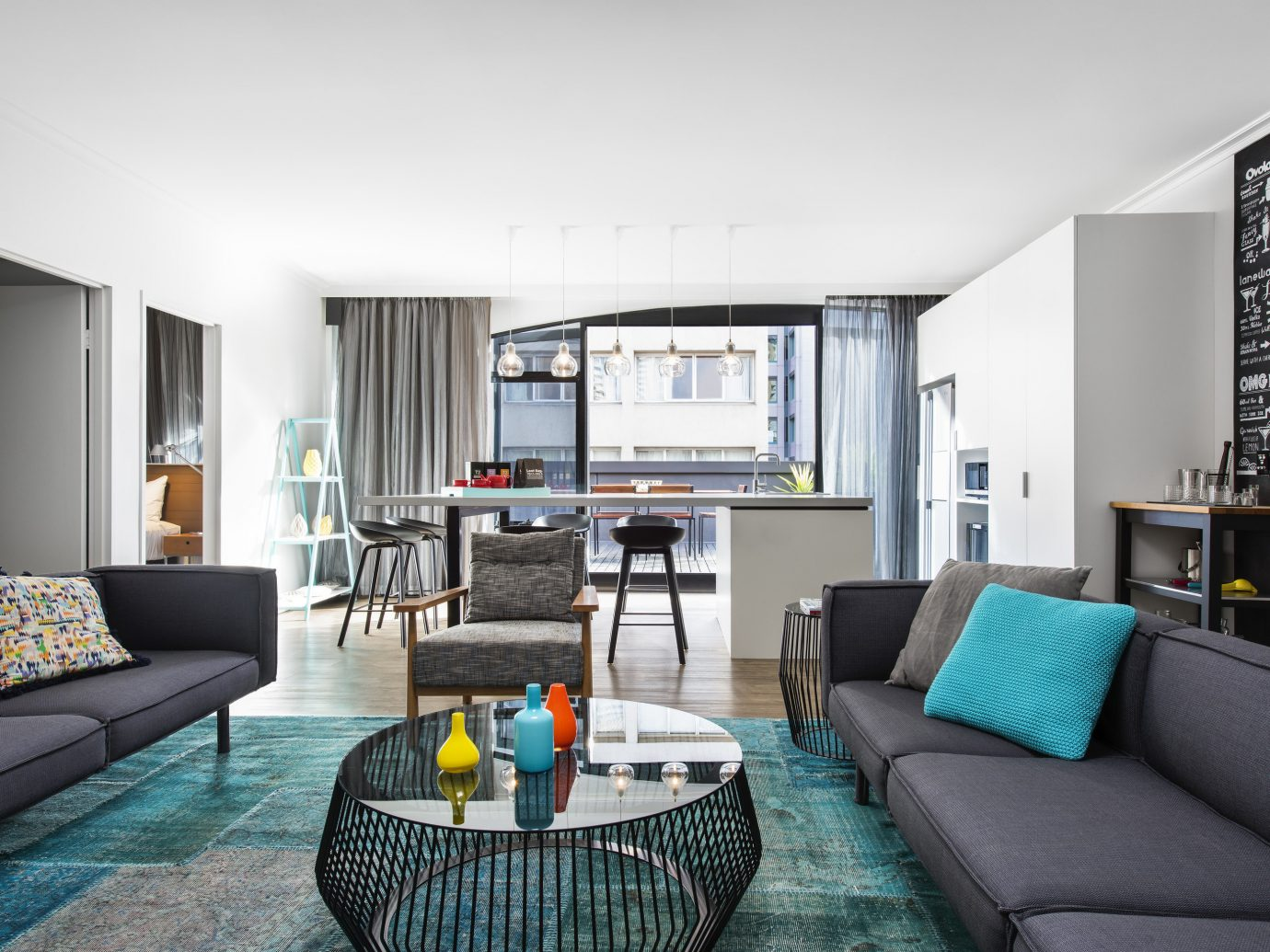 Australia Hotels Melbourne living room room interior design real estate Suite apartment interior designer angle penthouse apartment window