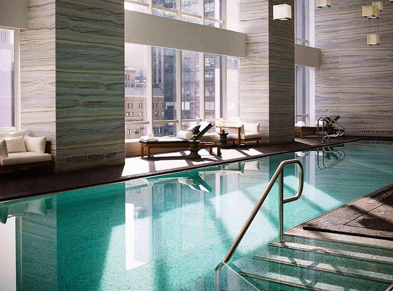 Hotels Lounge Luxury NYC Pool window swimming pool floor indoor property room house estate condominium interior design home backyard furniture