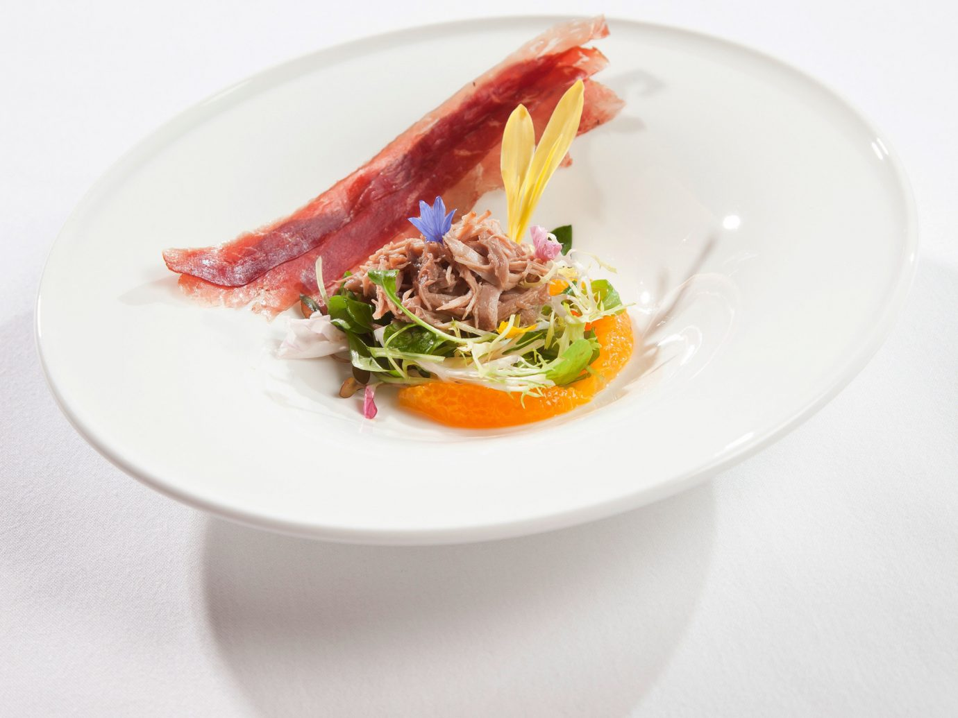 Hotels plate food table dish white meal produce cuisine Seafood fish served vegetable