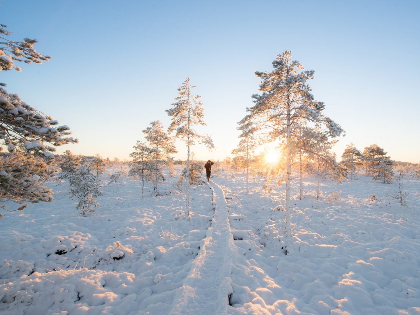 Boutique Hotels Romance Trip Ideas outdoor tree sky snow Winter weather season frost Nature freezing plant woody plant morning conifer sunlight mountain ice shore