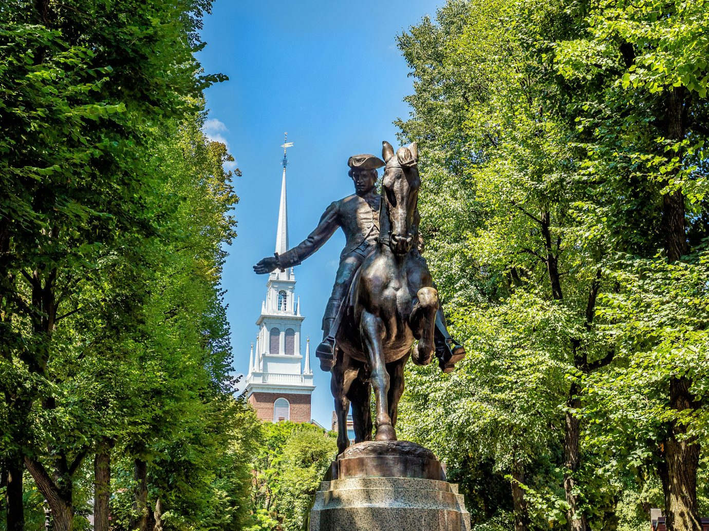 Statue of Paul Revere in Boston.