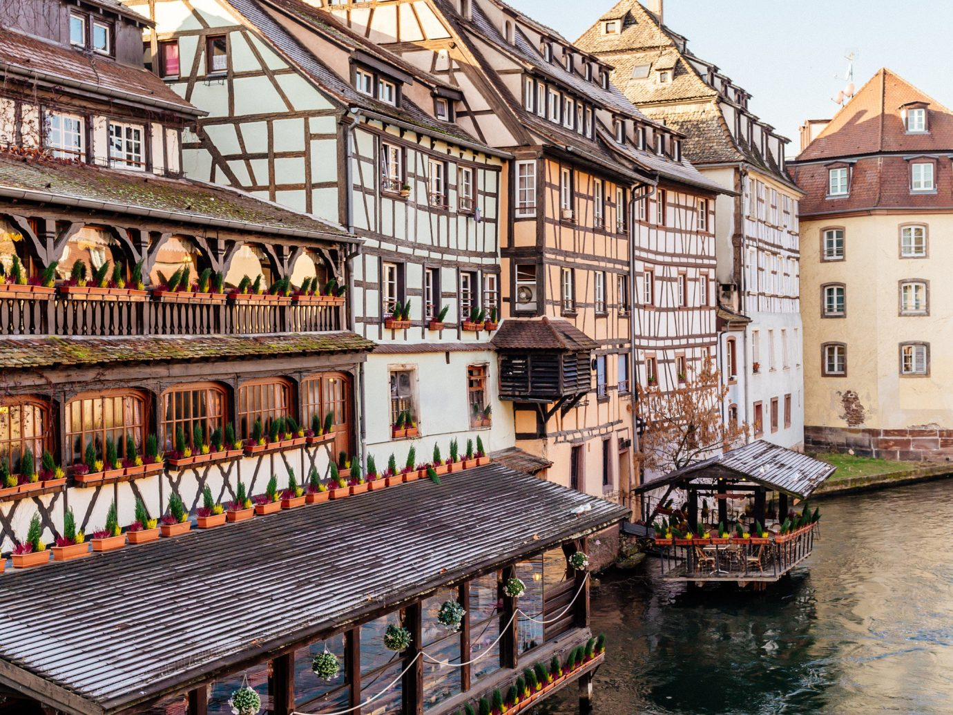 Cruise Travel Luxury Travel outdoor water waterway water transportation reflection Canal Town River sky City channel building house Harbor evening facade