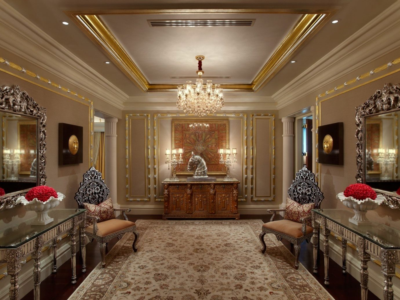 Hotels Luxury Travel indoor ceiling wall floor room living room interior design home Lobby estate furniture flooring Suite window decorated fancy several