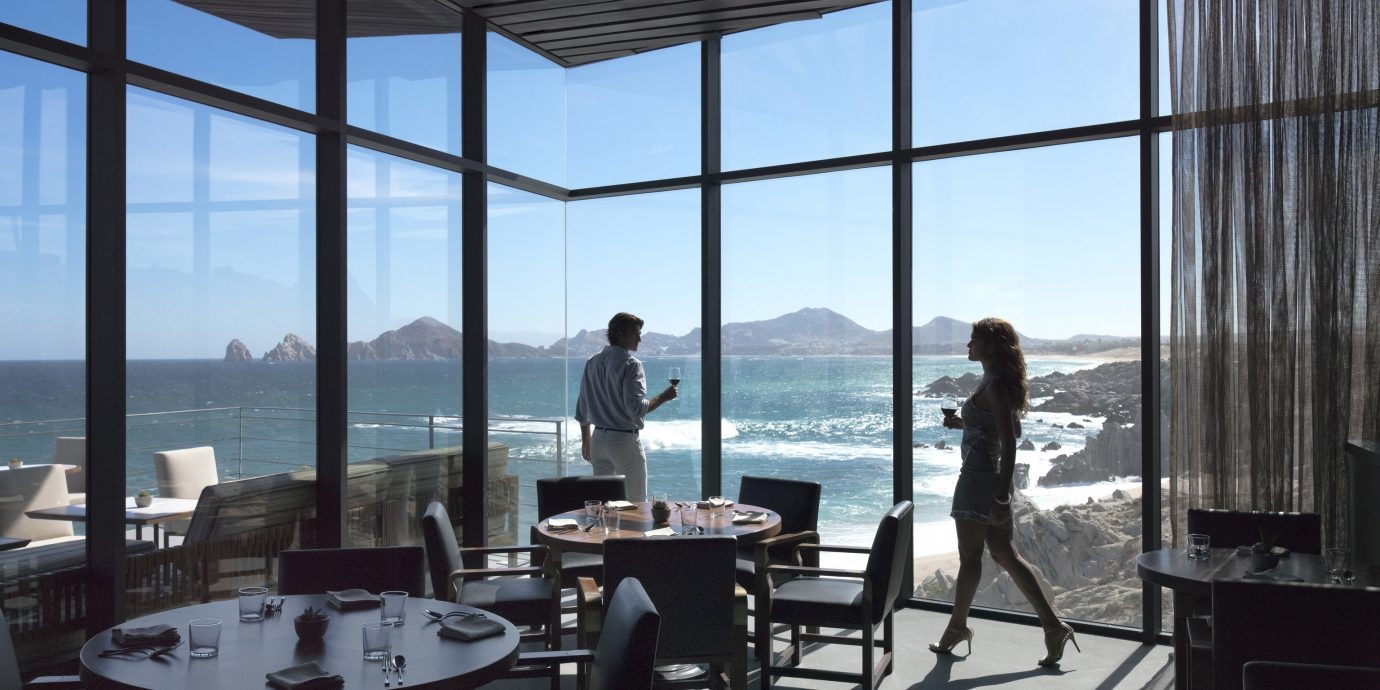 Travel Tips window room Architecture interior design home Design condominium window covering office overlooking dining table