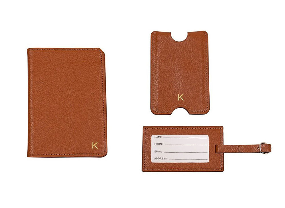 Style + Design accessory brown leather case wallet brand rectangle