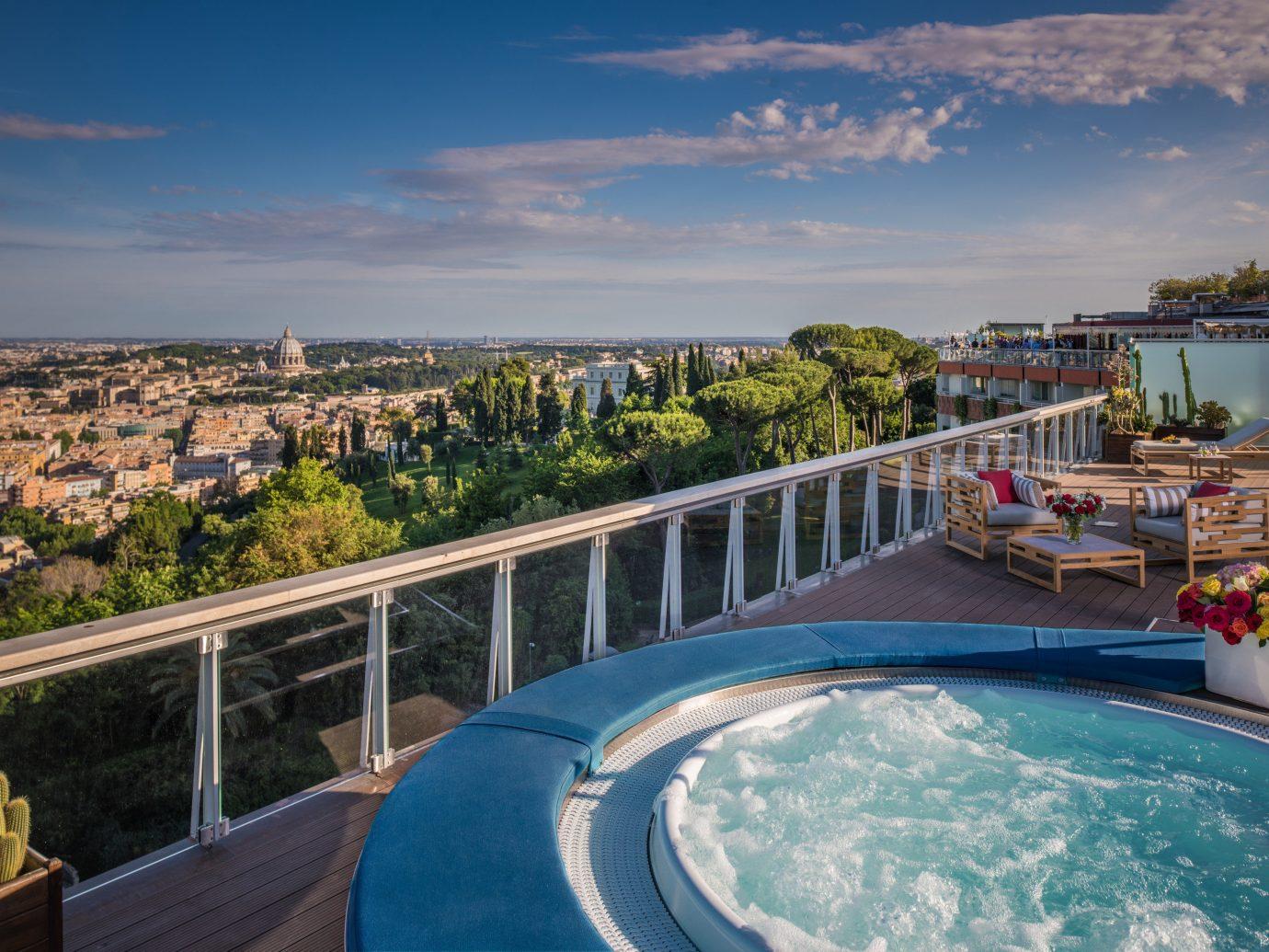 Hotels Luxury Travel sky outdoor property swimming pool building vacation estate Resort Sea real estate bay condominium Villa overlooking
