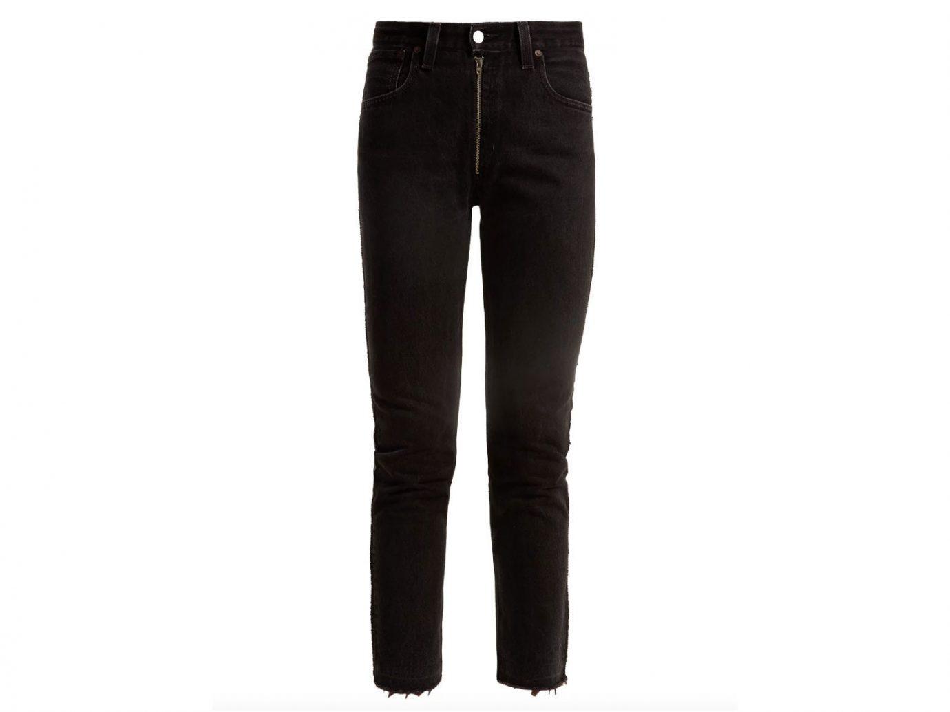 City NYC Style + Design Travel Shop clothing trouser suit jeans denim wearing trousers waist pocket active pants posing