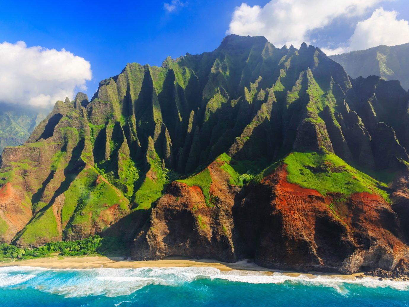 Aerial view of Kauai, Hawaii