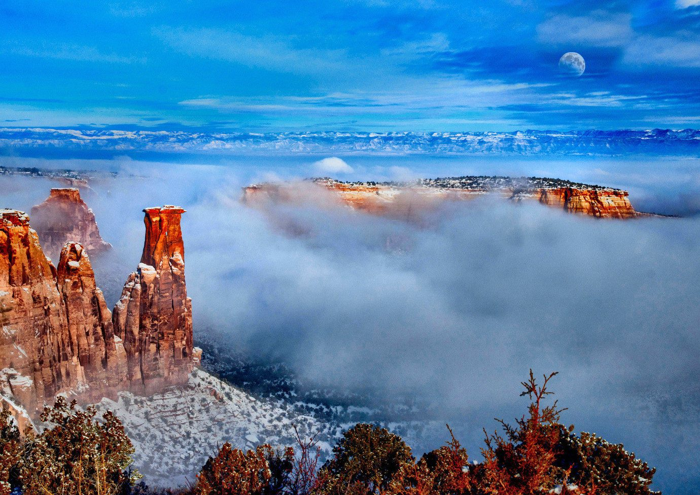 Countryside Landmarks national park Natural wonders Nature Offbeat Scenic views western sky outdoor geological phenomenon canyon cloud reflection morning landscape mountain Coast Sea dusk dawn clouds colored