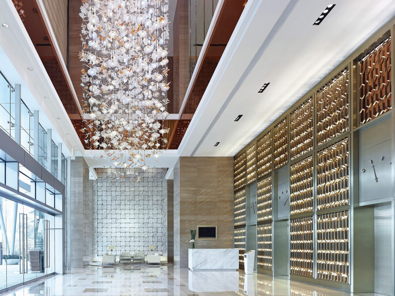 Hotels building Lobby ceiling Architecture floor interior design daylighting estate hall lighting facade headquarters flooring Design window covering