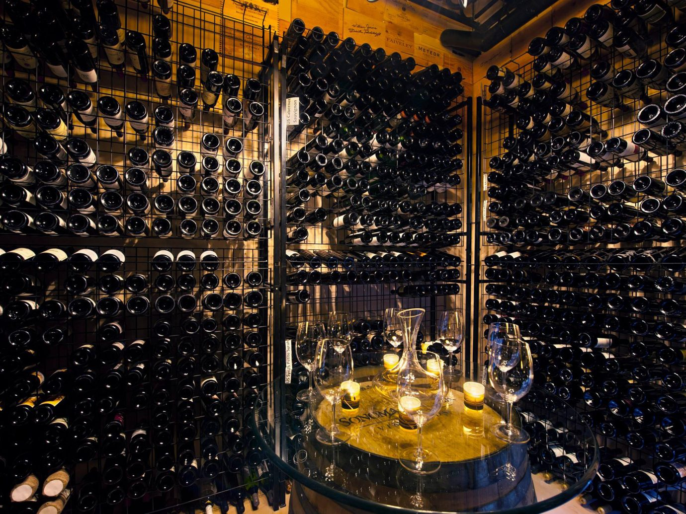 Bar Drink Elegant Jetsetter Guides Wine-Tasting indoor basement stage Winery lighting nightclub