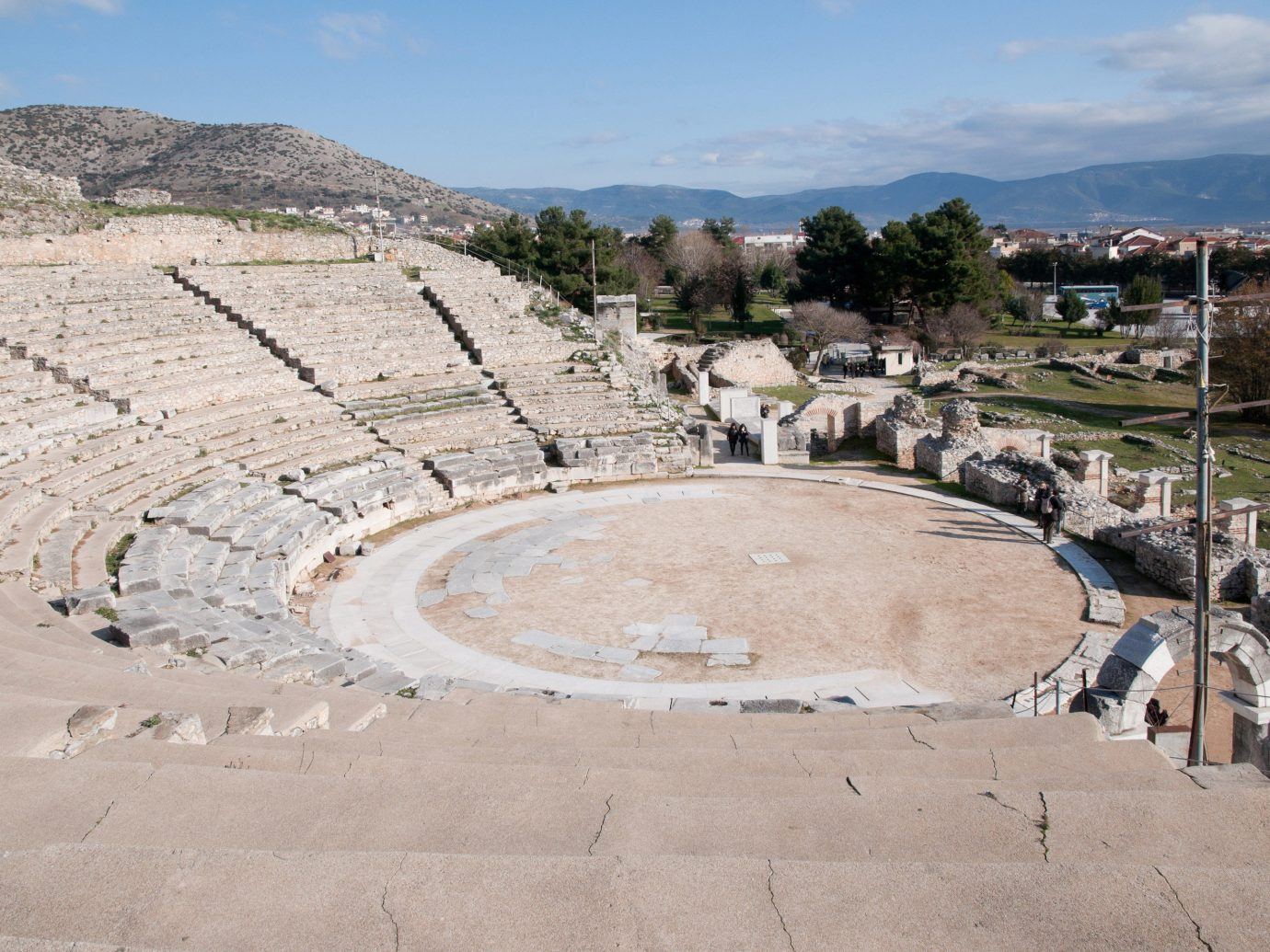 Trip Ideas ground sky outdoor amphitheatre structure sport venue mountain ancient history Ruins town square shore