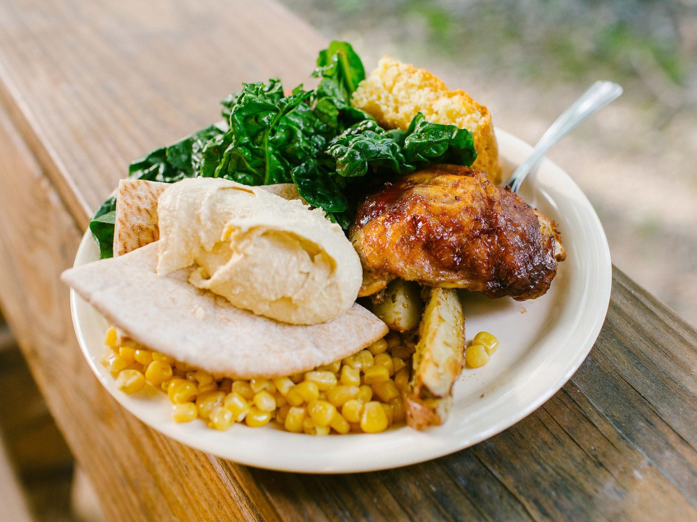 Offbeat food table plate dish wooden fried food vegetarian food cuisine recipe meal